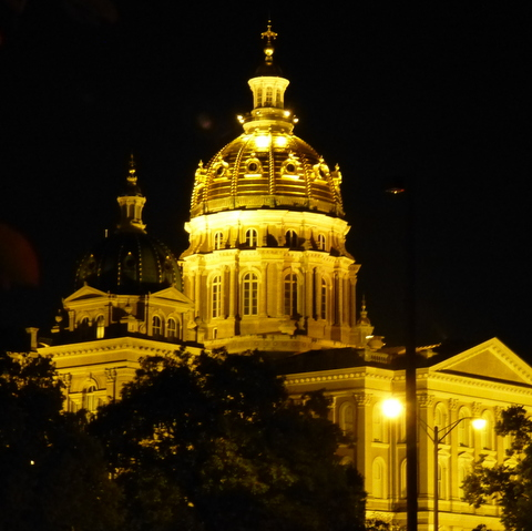 Iowa Capitol Dome at Night